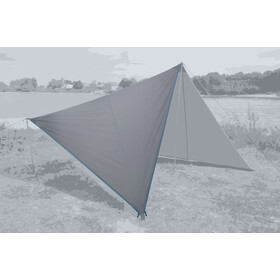 Bent Canvas Plain Tarp Pojedynczy, high rise/zipper light blue